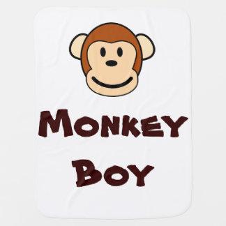 Cobertor Para Bebe Cobertura do menino do macaco