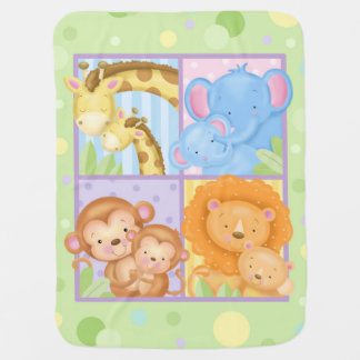 Cobertor Para Bebe Cobertura dos animais da mamã e do bebê
