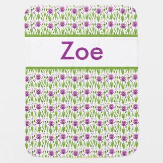 Cobertor Para Bebe Cobertura personalizada da íris de Zoe