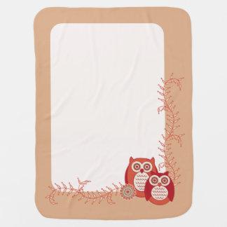 Cobertor Para Bebe Cobertura retro do bebê das corujas