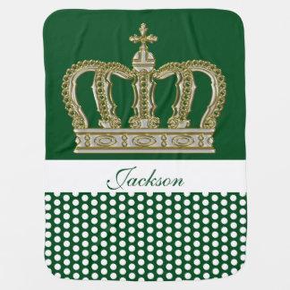 Cobertor Para Bebe Coroa real dourada III + seu backgr. & ideias
