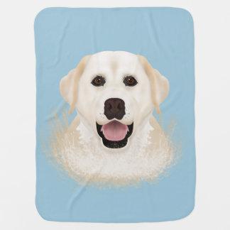 Cobertor Para Bebe desenhos animados de labrador retriever
