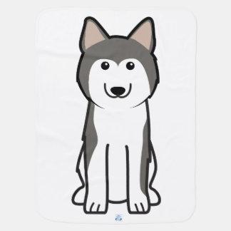 Cobertor Para Bebe Desenhos animados do cão do rouco Siberian
