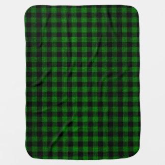 Cobertor Para Bebe Estilo do lenhador - tecido verde + suas ideias
