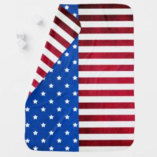 Cobertor Para Bebe Estrelas e bandeira Listra-Americana por Shirley