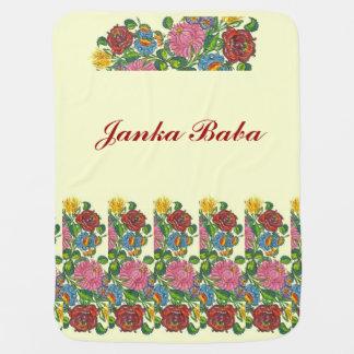 Cobertor Para Bebe Flores húngaras para o babá de Janka