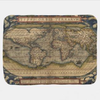 Cobertor Para Bebe Mapa do mundo 1570 de Ortelius