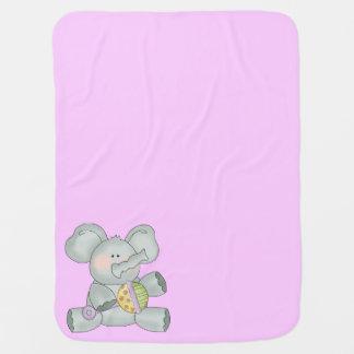 Cobertor Para Bebe Meninas do rosa do elefante do bebê