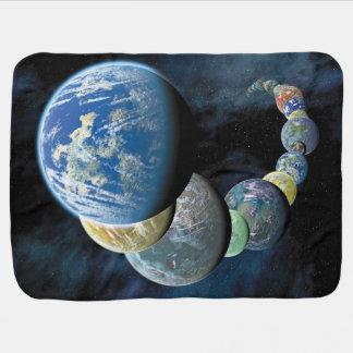Cobertor Para Bebe Montagem estrangeiro do planeta dos mundos novos