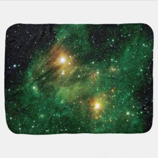 Cobertor Para Bebe Nebulosa verde da nuvem do gás GL490 - foto do