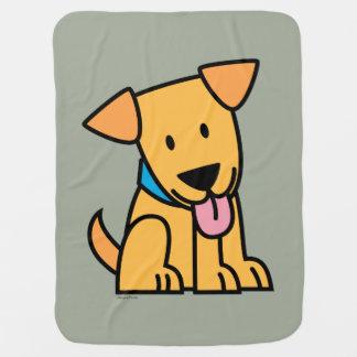 Cobertor Para Bebe O cão de filhote de cachorro de labrador retriever