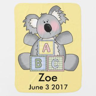 Cobertor Para Bebe O Koala personalizado de Zoe