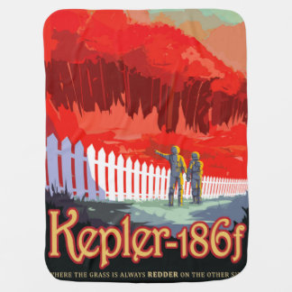 Cobertor Para Bebe Poster futuro de Sci Fi do viagem da NASA - Kepler