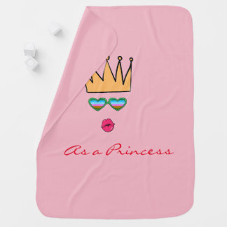 Cobertor Para Bebe Princesa geral do bebê