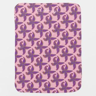 Cobertor Para Bebe rosa/azul de Thunder_Cove do teste padrão da