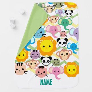 Cobertor Para Bebe selva, leão, tigre, elefante, cobertura do bebê do
