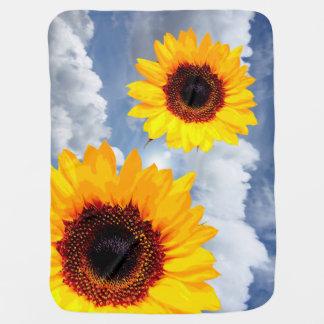 Cobertor Para Bebe Somente uma flor do girassol + seus texto & ideias