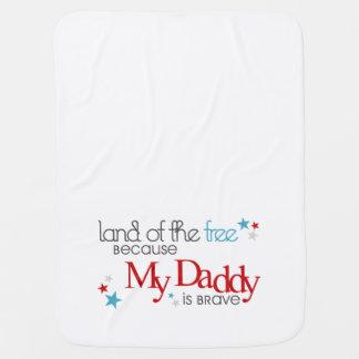 Cobertor Para Bebe Terra do livre, porque meu pai é bravo