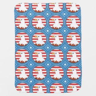 Cobertor Para Bebe Teste padrão da águia americana dos EUA