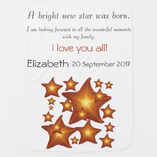 Cobertor Para Bebe Uma estrela nova brilhante da luz do sol era