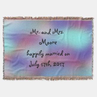 Cobertor Personalized Casamento do Sr. e da Sra. Feliz