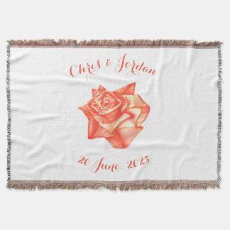 Cobertor Presente de casamento elegante simples do rosa do