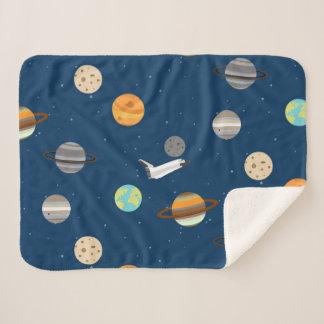 Cobertor Sherpa Exploração do planeta do vaivém espacial da lontra