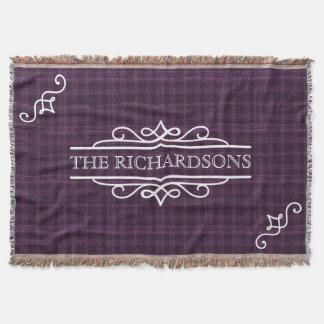 Cobertor Tartan personalizado do aniversário de casamento