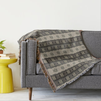 Cobertor teste padrão africano. Simbols de Adinkra