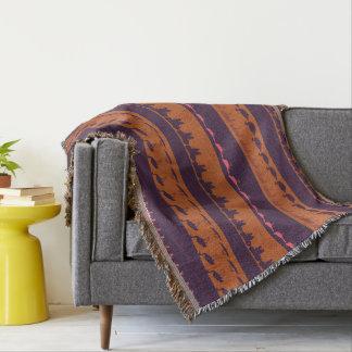 Cobertor Teste padrão colorido retro #2 dos animais
