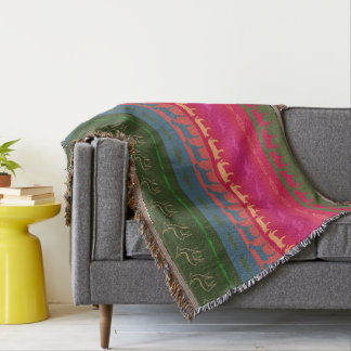 Cobertor Teste padrão colorido retro #7 dos animais