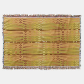 Cobertor Teste padrão geométrico africano dourado étnico