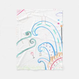 Cobertura abstrata do velo cobertor de lã