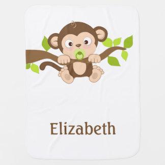 Cobertura bonito do bebê do macaco do bebê mantas para bebe