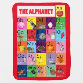 Cobertura brilhante do bebê da carta do alfabeto cobertor para bebe