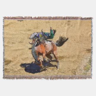 Cobertura Bucking do lance do vaqueiro do bronco e Throw Blanket