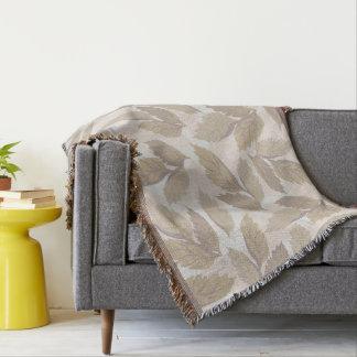 Cobertura cinzenta abstrata do lance das folhas throw blanket