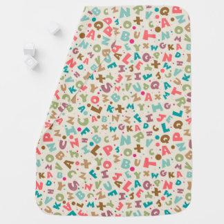 Cobertura colorida do bebê do alfabeto cobertores para bebe