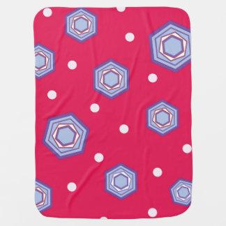 Cobertura cor-de-rosa carmesim do bebê dos manta de bebe