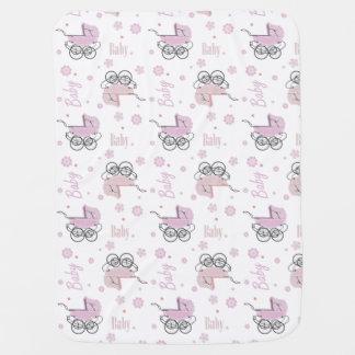 Cobertura cor-de-rosa do bebê dos carrinhos de cobertor para bebe