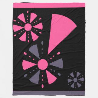 Cobertura cor-de-rosa e cinzenta cobertor de lã