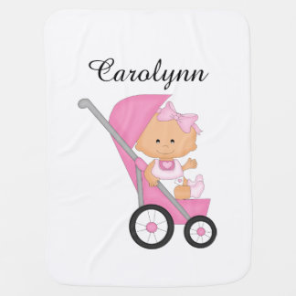 Cobertura cor-de-rosa personalizada do bebê do cobertores para bebe