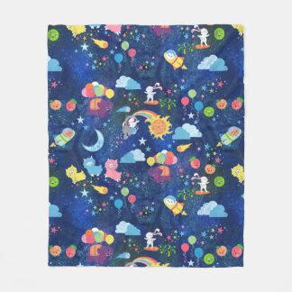 Cobertura cósmica do velo de Kawaii Cobertor De Lã