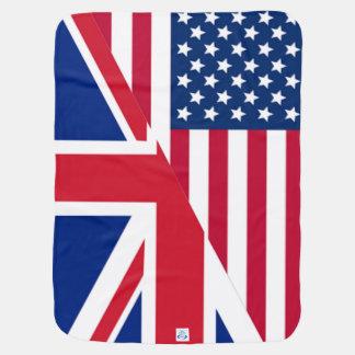 Cobertura do americano e do bebê da bandeira de cobertor de bebe