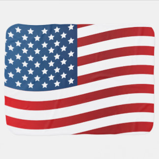 Cobertura do bebê da bandeira americana manta de bebe