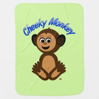 """Cobertura do bebê, design gráfico """"MACACO Manta Para Bebe"""