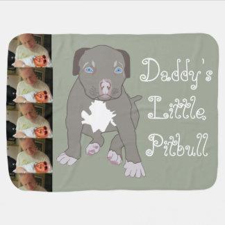Cobertura do bebê do Pitbull do pai pouca Manta De Bebe