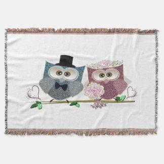 Cobertura do lance das corujas do casamento throw blanket
