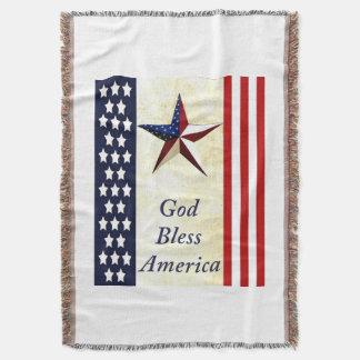 Cobertura do lance de América dos deus abençoe Manta
