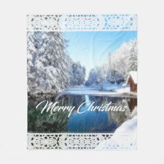 Cobertura do tema do Natal Cobertor De Lã